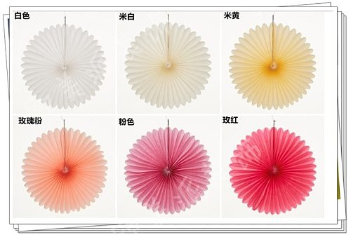 12inch 30cm Tissue Paper Honeycomb Paper Fans Pinwheels DIY Hanging Paper Flowers for Wedding Birthday Party Festival Decoration