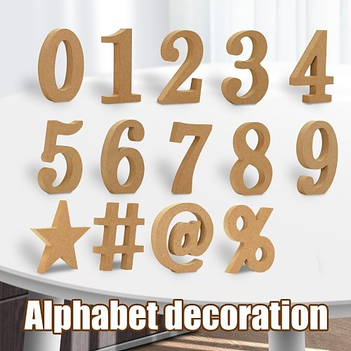 Wood Wooden Thickness Wedding Party Home Decor Wooden Wood letters Alphabet Numbers Decoration DIY Word Handmade