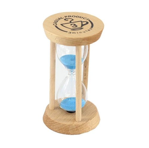 Fashion 3 Mins Wooden Frame Sandglass Sand Glass Hourglass Time Counter Count Down Home Kitchen Timer Clock  SN117