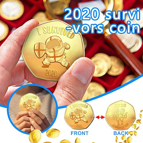 2020 Survivors Commemorative Coin Double-sided Commemorative Coin Old Metal Gift Souvenir Coins Non-currency Coins