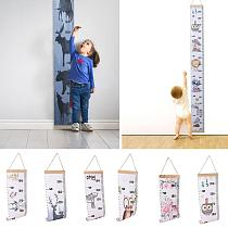 Baby Height Measure Ruler Wooden Nordic Style Wall Hanging Wall Sticker Decorative Child Kids Growth Chart for Kid Children Room