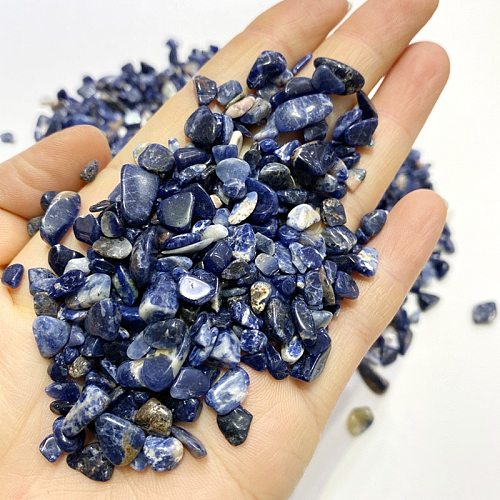 100g sodalite tumbled stone Irregular polishing natural rock and quartz palm bead chip love for Chakra Healing collection decor
