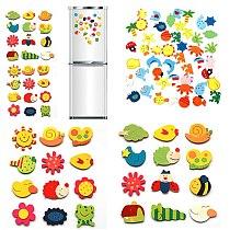 12Pcs Set Fridge Magnets Baby Wooden Cartoon Animal Cute Fridge Magnet Eco Friendly Refrigerator Magnets