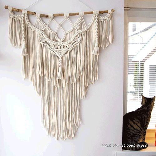 BIg Size Macrame Tapestry Wall Hanging Bohemian Handicrafts Woven Modern Boho Living Room Bedroom Wall Decoration 75*100cm