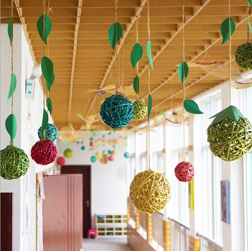 3cm 5-10pcs 12Colors Rattan Ball Ornaments  Home Christmas/Birthday Wedding Party Decorations Kids Toys Wooden Balls