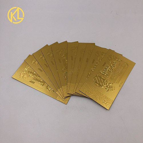 1000 pcs/lot Latest antique imitation Soviet Union 1 ruble 24K gold plated Banknote Bill Note for free shipping
