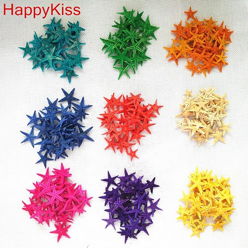 Happy Kiss 20pcs/lot diy natural small starfish shell adrift bottle accessories mini sea star natural crafts  colors mix  conch