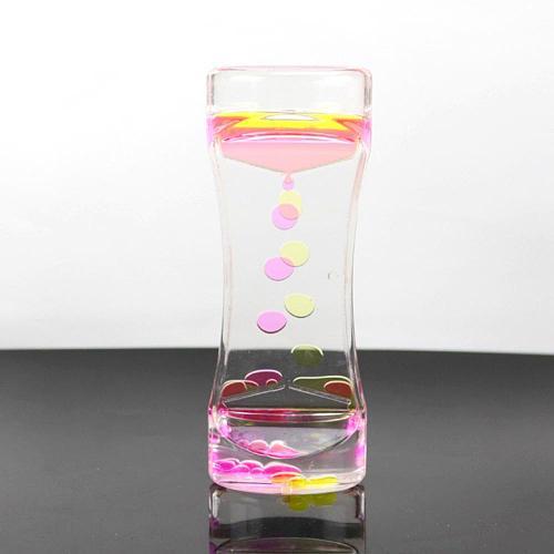1PC Double Color Drip Oil Hourglass Floating Oil Liquid Visual  Motion Bubble Timer Toy Office Desk Home Decor Ornament Sandglas
