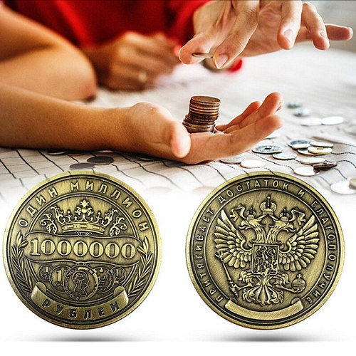 Russian Million Ruble Commemorative Coin Badge Double-sided Embossed Collection Coin Metal Crafts Gifts Badges Non Currency