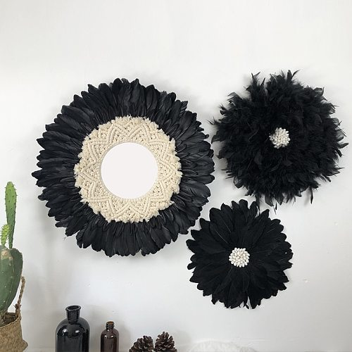 Wall Hanging Home Decoration Accessories Feathered Tapestry Headboard  Mandala Boho Home Rustic Farmhouse Decor