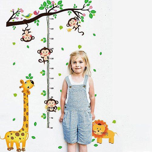 Stadiometer Rangefinder Growth Chart Stickers Meter Ruler Decor Kids Room Wall Stickers Children Wall Decals Height Gauge Decor