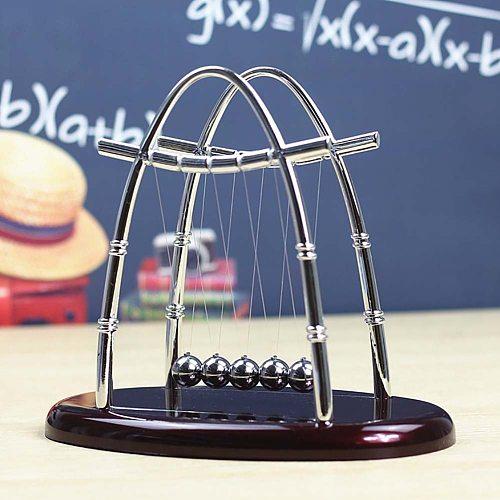 1pc Newton's Cradle Kids Toys Educational Toy Desk Table Decor Metal Balance Ball Pendulum Juguetes Antistress Game