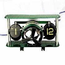 Aircraft Flip Clock Creative Wall Clock Metal Automatic Flip Table Watch Desk Clock Vintage Bedroom Living Room Home Decor Gift