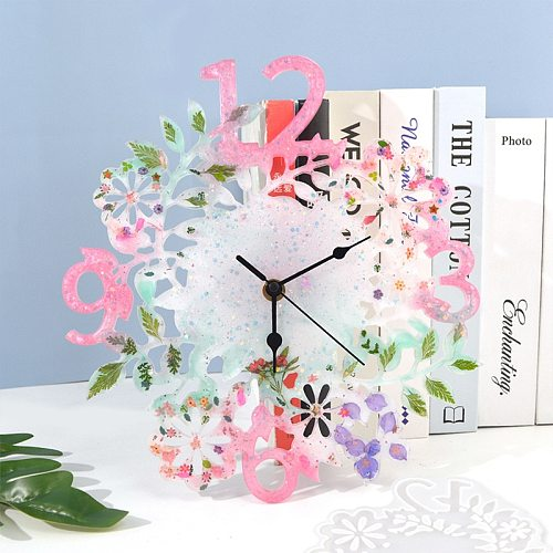 DIY Epoxy Resin Flower Clock Mold Quartz Clock Repair Movement Hands For DIY Silent Large Wall Clock Repair Clock Mechanism Part
