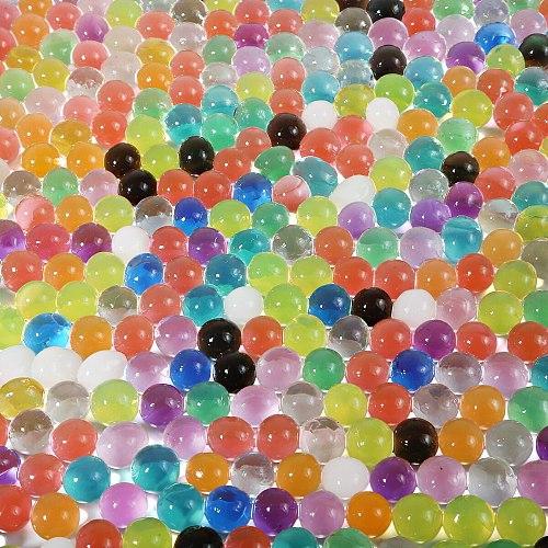 500pcs/Bag Crystal Soil Hydrogel Gel Polymer Water Beads Flower Wedding Decoration polymer Growing Water Balls Big Home Decor