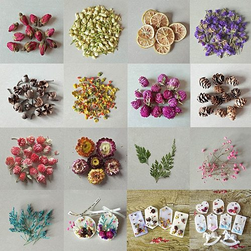 Natural Dried Flower For DIY Handmade Aromatherapy Candle DIY Scented Candle Surface Decoration Accessories 6*6*3cm