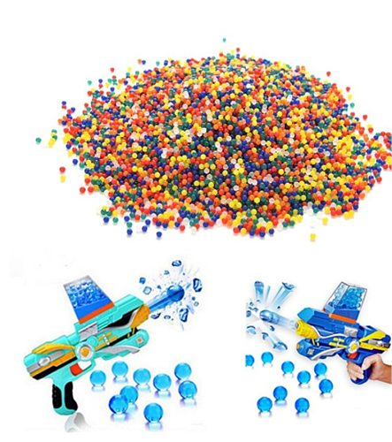 100 pcs Colorful Pearl Gel Ball Polymer Hydrogel Crystal Mud Soil Water Beads Grow Magic Jelly Wedding Home Party Decoration