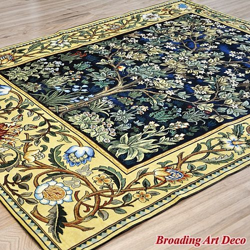William Morris Tree of Life Tapestry Wall Hanging Jacquard Weave Gobelin Home Textile Art Decoration Cotton 100% Large Sizes