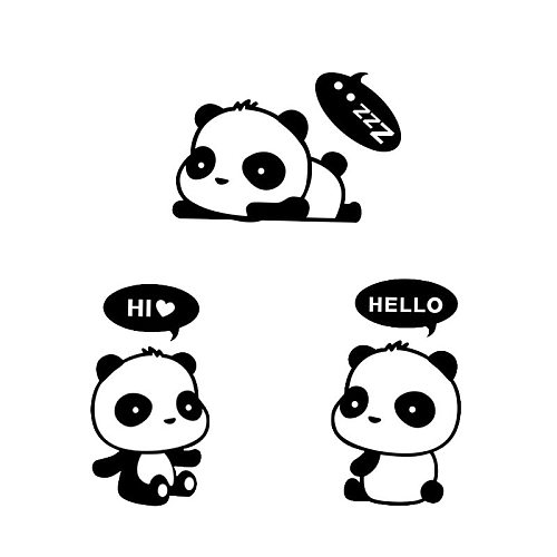 Cute Panda Switch Sticker on the wall kids rooms vinyl for home decoration art decals Removable lovely Wall Stickers