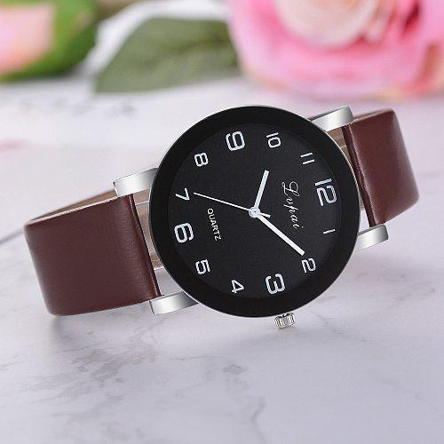 Lvpai Women's Casual Quartz Leather Band Watch Analog Wrist Watch Fashion Business Women Clock Female Bracelet Watches New