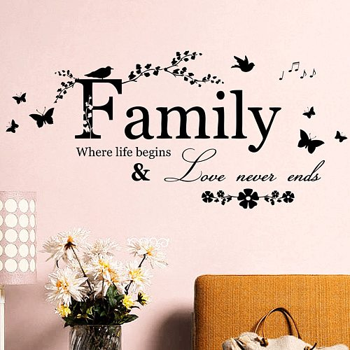 Encourage Words Wall Stickers Home Decor Room Decoration Accessories For Women Wall Art Decor Living Room Papel Pared Pintado