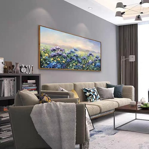Knife flower abstract oil painting wall art home decoration picture hand painting on canvas 100% hand painted without border