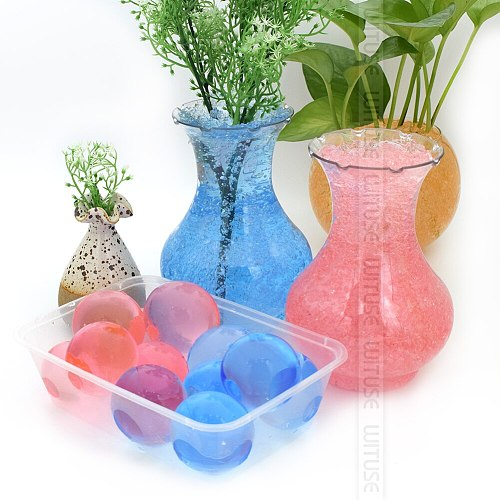 WITUSE 100pcs/lot Large Hydrogel Pearl Shaped Big 40mm Crystal Soil Water Beads Mud Grow Ball Wedding Growing Bulb