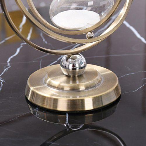 Hour Glass 30 Minutes Rotating Sand Hourglass,Metal Hour Glass Sand Timer for Vintage Home Decor Sand Glass