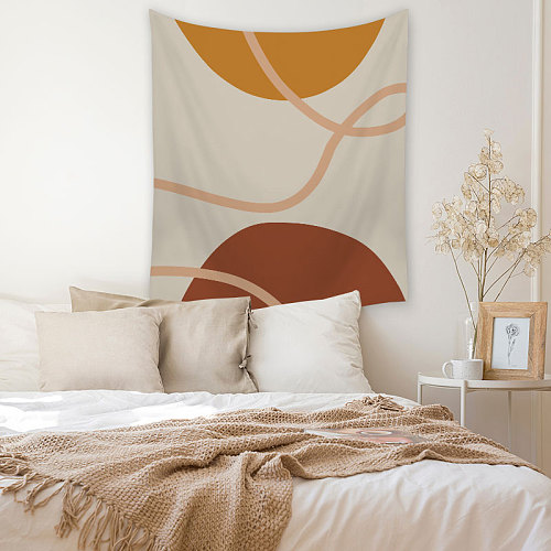 Geometric Striped Print Tapestry Wall Hanging Leaf Decorative Home Decor Living Room Carpet Polyester Bedroom Tapestry