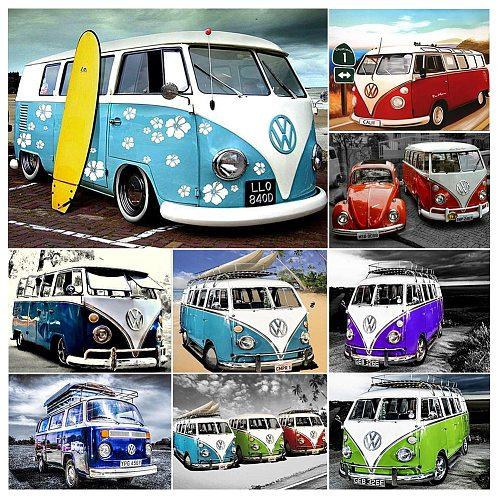 Diamond Painting Car 5D DIY Full Drill Embroidery Handmade Hobby Cross Stitch Tool Kits Mosaic Art Picture Wall Home Decor Gift