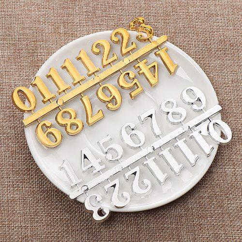 1SET DIY Digital Replacement Gadget DIY Repair Restore Ancient Quartz Clock Parts Arabic Number Bell Accessories Numerals