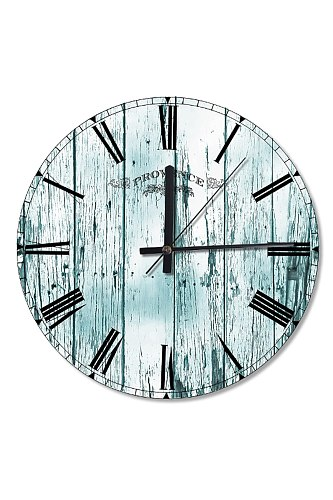 30 Cm Diameter Cracked Blue Wood Wooden Wall Clock Specialty Clock Home Decoration Gift Wall Clock Classy Stylish Clock