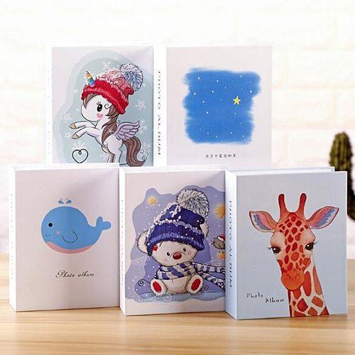 100-Page Interleaved Photo Album Children's Cartoon Memorial Album Family Decoration Photo Collection Book
