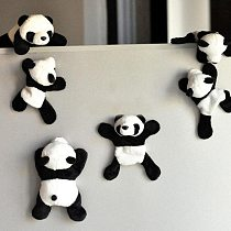 Magnet Refrigerator Sticker 1Pc Cute Soft Plush Panda Fridge Magnet Refrigerator Sticker Gift Souvenir Decor