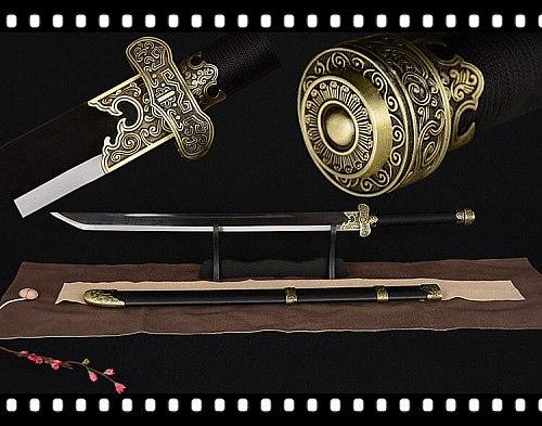 Wonderful Chinese DaoMu Broadsword Sword Sharp 1075 Carbon Steel Blade Full Tang