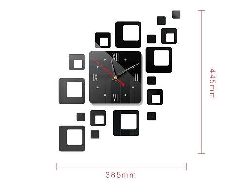 Removable Modern 3D Mirror Acrylic Wall Clock Sticker Vinyl Art DIY Home Decor Acrylic Creative Mirror Square Clocks