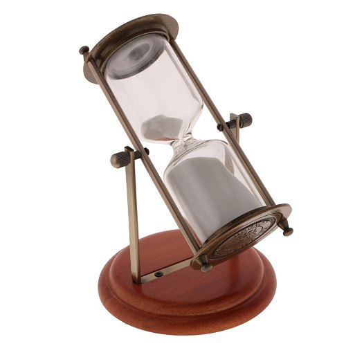 New Hot Sale 15 Minutes Wooden Frame Rotating Hourglass Sandglass Sand Timer Home Decoration Creative Gift Weding Sand Clock