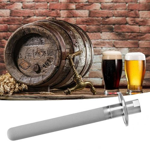 6in Stainless Steel Carbonation Stone SS316 with G1/4in NPT Female Gas Inlet for Beer Homebrew Home Wine Tool