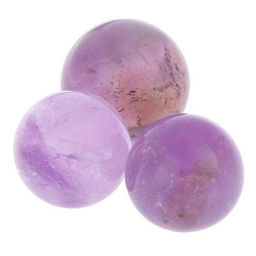 New Arrival 1PCS Natural Amethyst Quartz Stone Sphere Crystal Fluorite Ball Healing Gemstone Toy Ball Christmas Wedding Decor