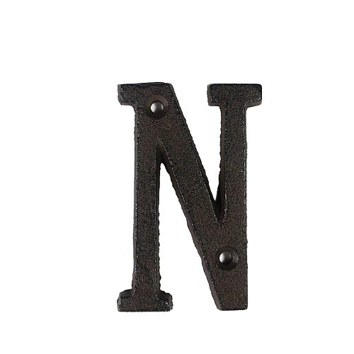 Metal Letters Numbers Cast Iron Decoration House Sign Doorplate DIY Cafe Wall DSD666