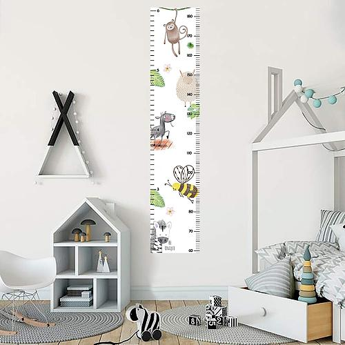 Nordic Christmas Cartoon Pattern Children Height Ruler Chart Wall Sticker for Kids Rooms Decoration Child Growth Meter Sticker