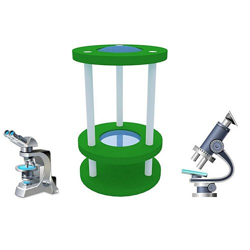 DIY Assembly Sundial Microscope Model Handmade Experiment Toy Learning Aids Early Education Cognition Toys