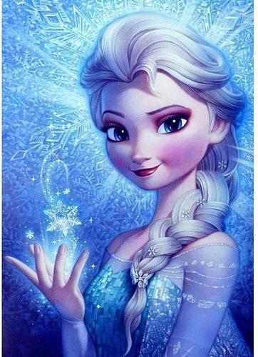 Disney Full Square 5D DIY diamond painting Princess Anna Diamond Embroidery Cross Stitch Mosaic Gift