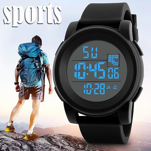 Military Men Watches Analog Digital LED Display Waterproof Silicone Watches Sport Electronic Wrist Clock Reloj Hombre homme