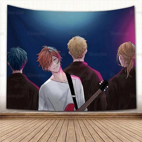 New Arrival Given Anime Wall Hanging Tapestry Home Party Decorative Tapestries Photo Background Cloth Table Cloth Wall Tapestry