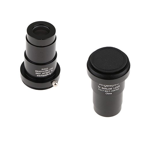 Telescope Eyepiece Barlow Lens 5X & 3X Magnification 1.25inch Clear Sharp Image Universal T Ring Adapter