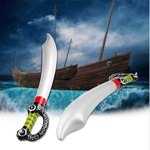 Outdoor Fun Game Playing Inflatable Pirate Toy Sword Stage Props Inflated PVC Children Cosplay Hot Toys Birthday Party Favors