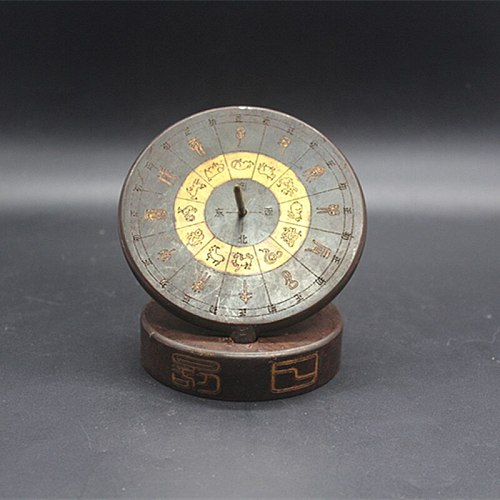 Antique collection compass sundial ornament