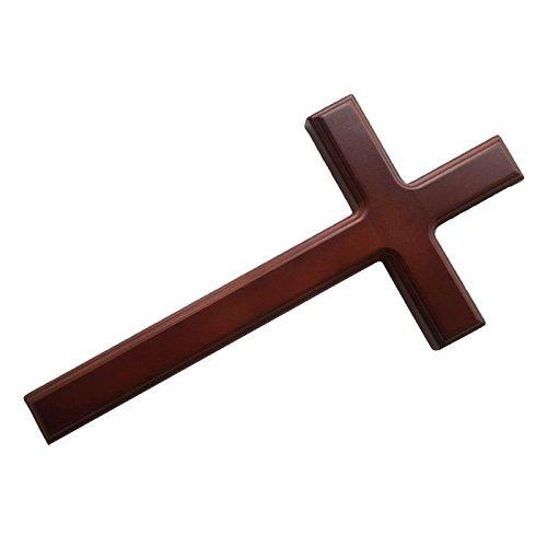 32cm Wood Jesus Christ Cross Wall Mounted Church Religious Prayer Hanging Decor