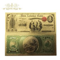 All Series 1875 year's American Banknote 1 dolllar Banknote in 24k Gold Fake Money Art Crafts Commemorative For Collection